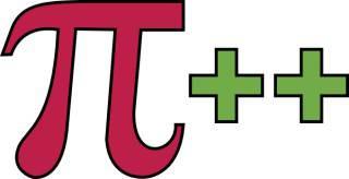 Logo Pi and More, griechischer Buchstabe Pi & 2 Plus Zeichen